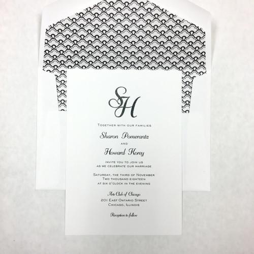 Sharon and Howard: Wedding Invitation