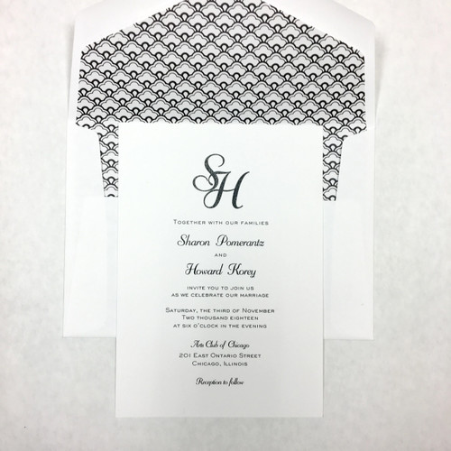 Sharon and Howard: Wedding Invitation