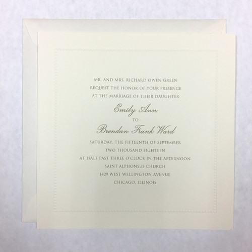Emily and Brendan: Wedding Invitation