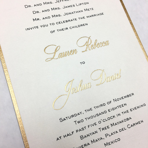 Lauren and Joshua: Wedding Invitation