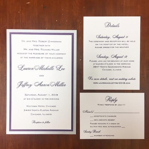 Lauren and Jeffrey: Wedding Invitation