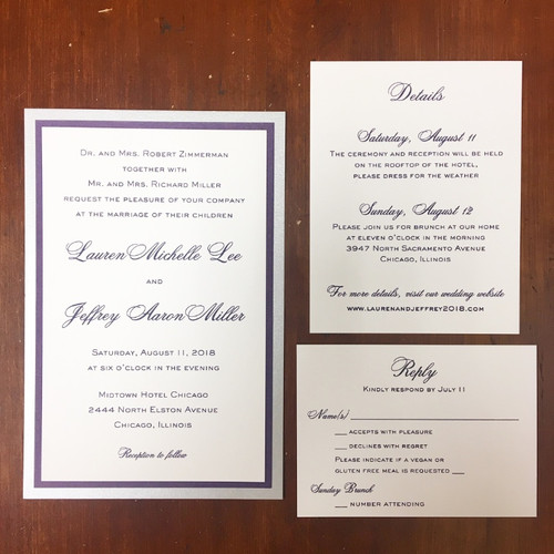 Lauren and Jeffrey: Wedding Invitation