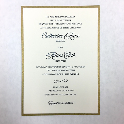 Catherine and Adam: Wedding Invitation