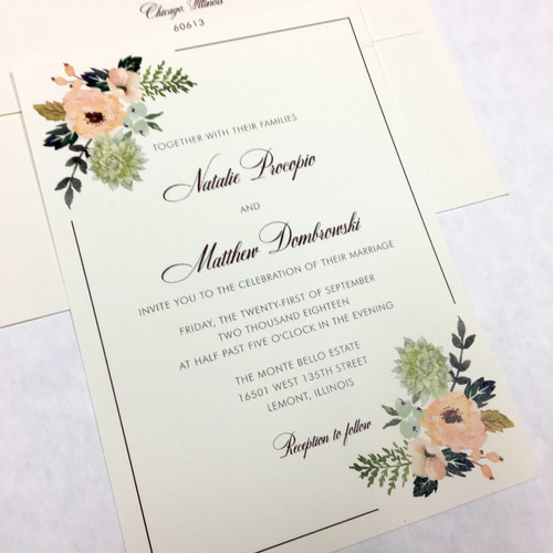 Natalie and Matthew: Wedding Invitation