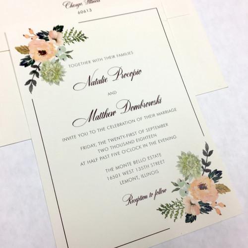 Natalie and Matthew: Wedding Invitation