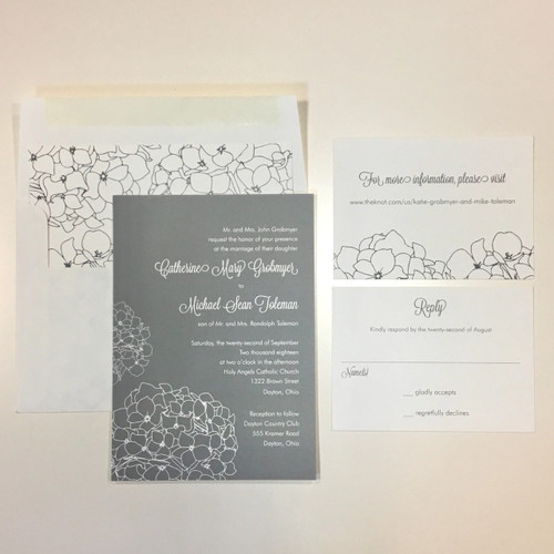 Catherine and Michael: Wedding Invitation