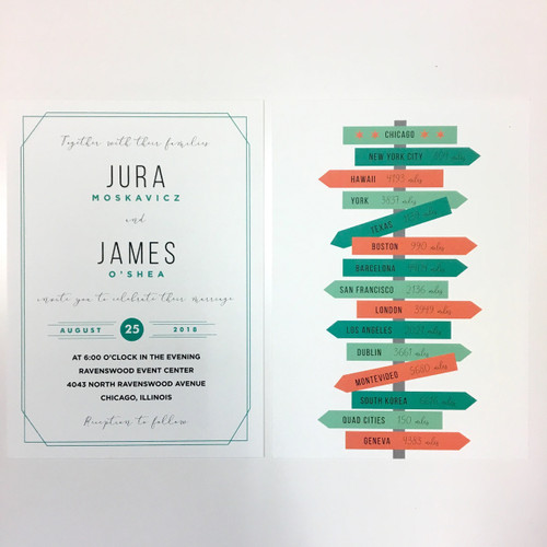 Jura and James: Wedding Invitation
