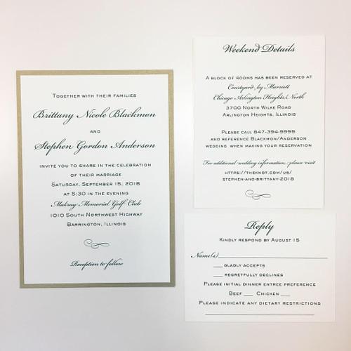 Brittany and Stephen: Wedding Invitation