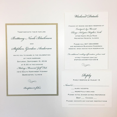 Brittany and Stephen: Wedding Invitation