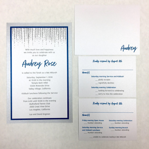 Audrey: Bat Mitzvah Invitation