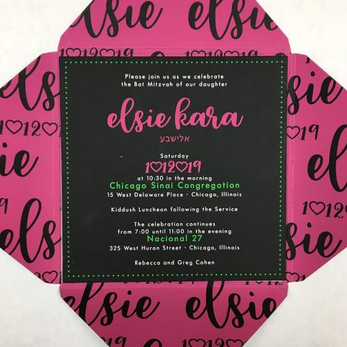 Elsie: Bat Mitzvah Invitation