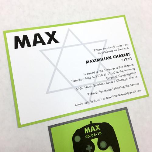 Max: Bar Mitzvah Invitation