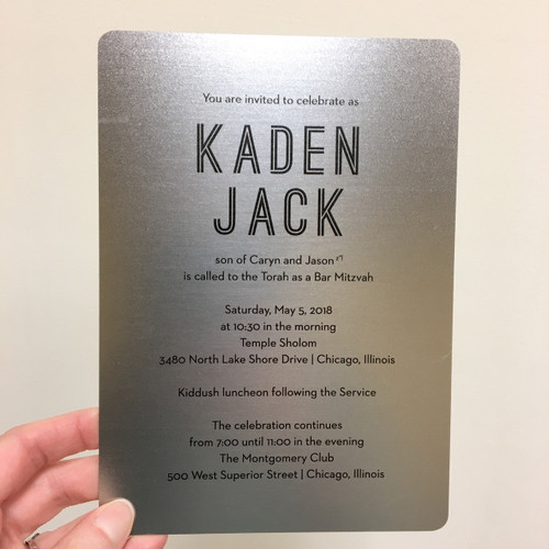 Kaden: Bar Mitzvah Invitation