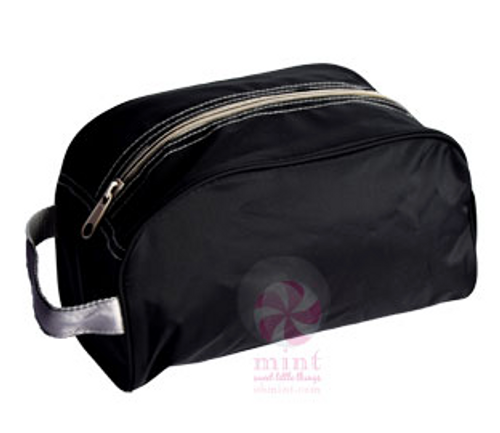 Black and Gray Dopp Kit