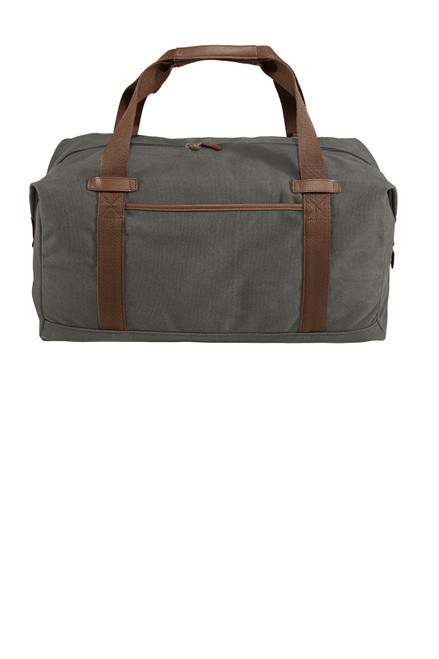 Dark Smoke Gray Canvas Duffel