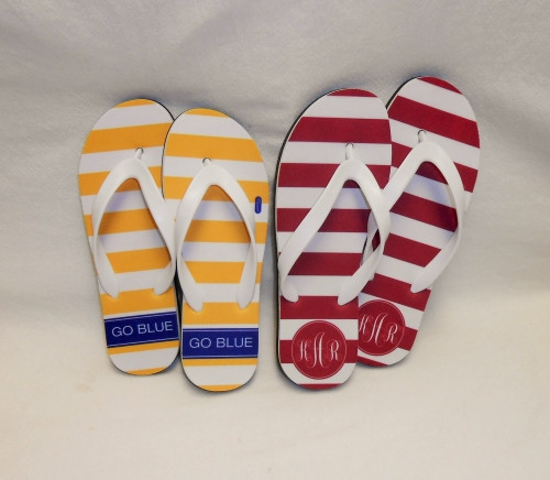 Personalized College Flip Flops