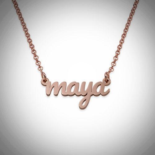 Maya  Name Necklace- Multiple Metals