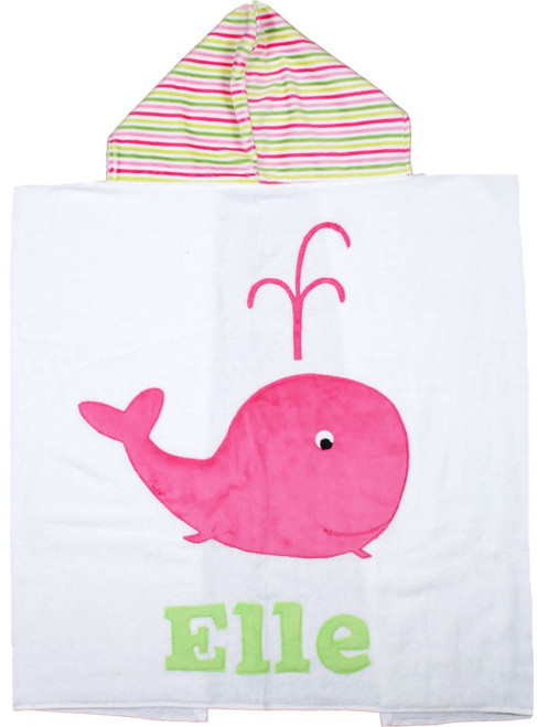 Whale Hooded Towel (Girl)