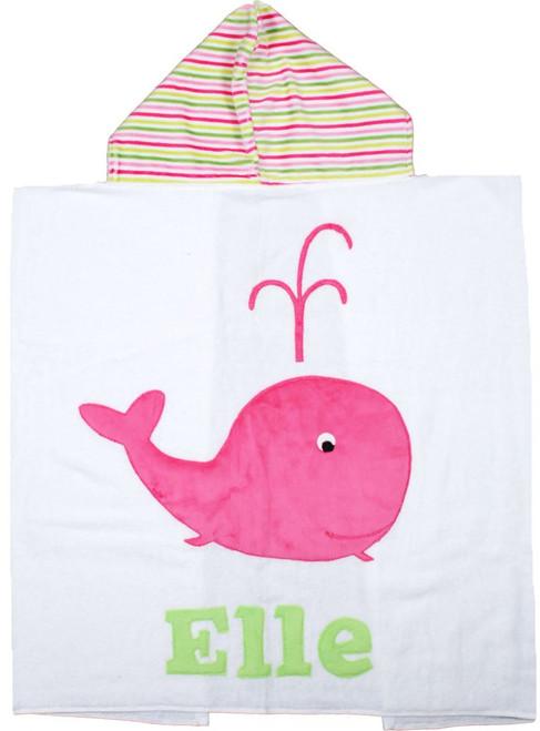 Whale Hooded Towel (Girl)