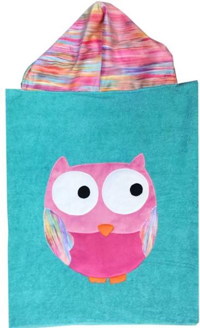 Owl Hooded Towel (Girl)