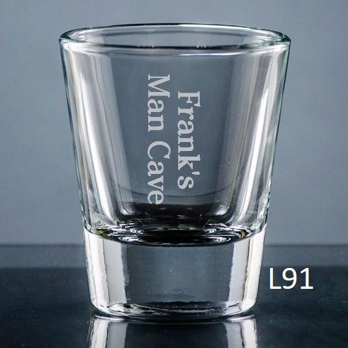 Colima Shot Glass - 10 fonts