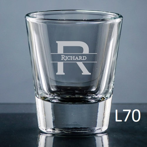 Ensenada Shot Glass - 10 Fonts