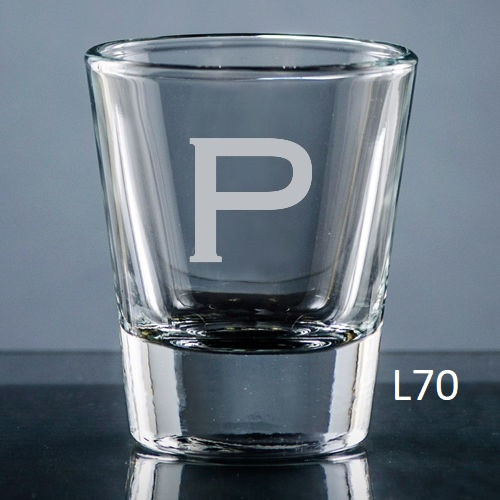Sencillo Shot Glass - 10 fonts