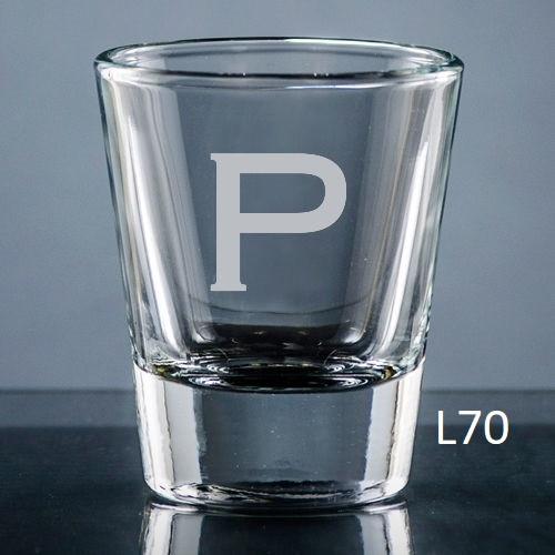 Sencillo Shot Glass - 10 fonts