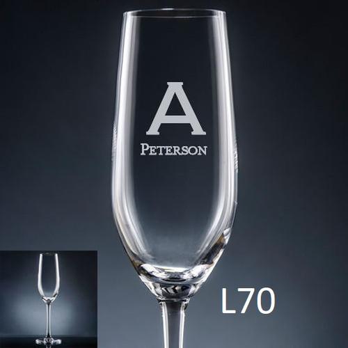 Fortaleza Champagne Flute - 10 Fonts