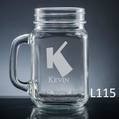 Fortaleza Mason Jar Glass - 10 Fonts