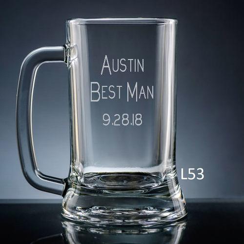 Iguala Beer Mug Glass- 10 fonts