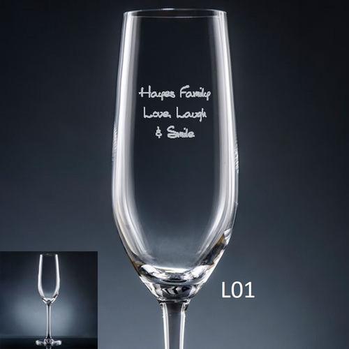 Iguala Champagne Flute- 10 fonts
