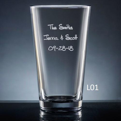 Iguala Pint Glass- 10 fonts