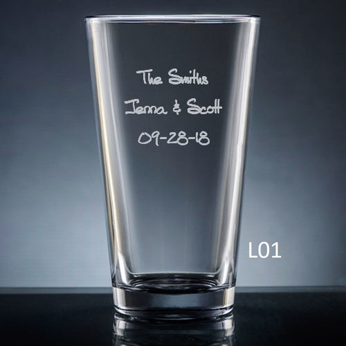 Iguala Pint Glass- 10 fonts