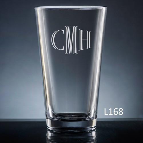 Altamira Monogram Pint  Glass - 10 Fonts