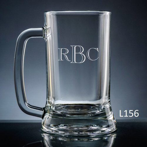 Altamira Monogram Beer Mug Glass - 10 Fonts