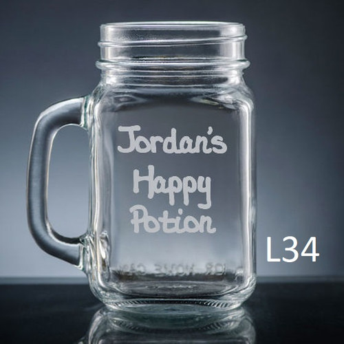 Iguala Mason Jar Glass- 10 fonts