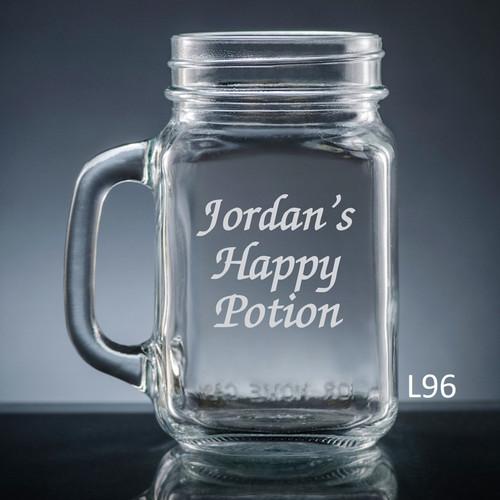 Iguala Mason Jar Glass- 10 fonts