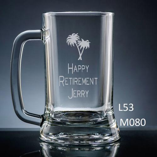 Miramar Glass Beer Mug - 10 icons