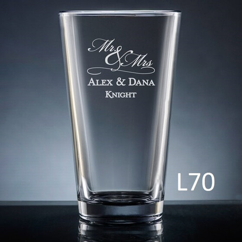 Matrimony Pint Glass- 3 Fonts