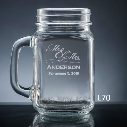 Matrimony Mason Jar Glass- 3 Fonts