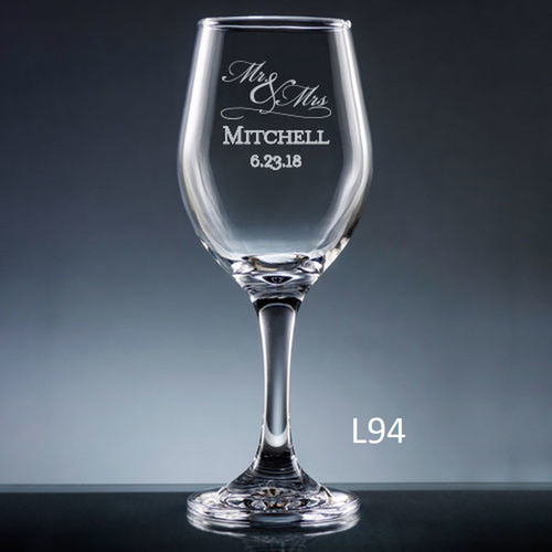 Matrimony Wine Glass- 3 Fonts