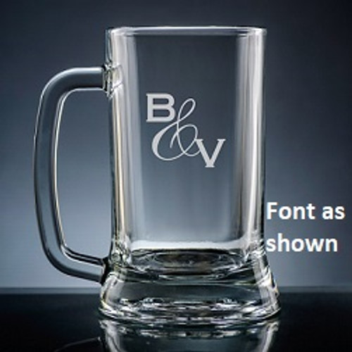 Amor Initials Beer Mug Glass