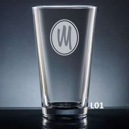 Soltero Pint Glass - 8 fonts