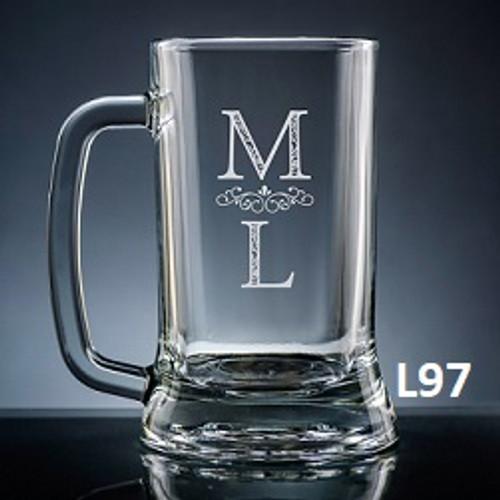 Pareja Beer Mug Glass- 5 fonts