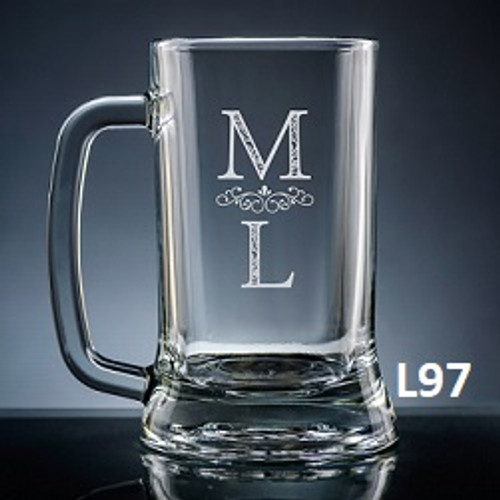 Pareja Beer Mug Glass- 5 fonts