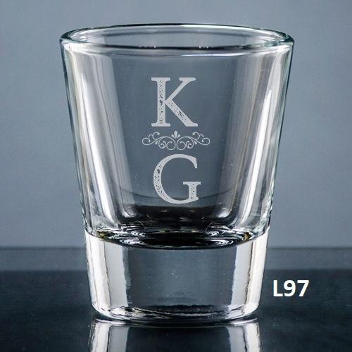 Pareja Shot Glass- 5 fonts