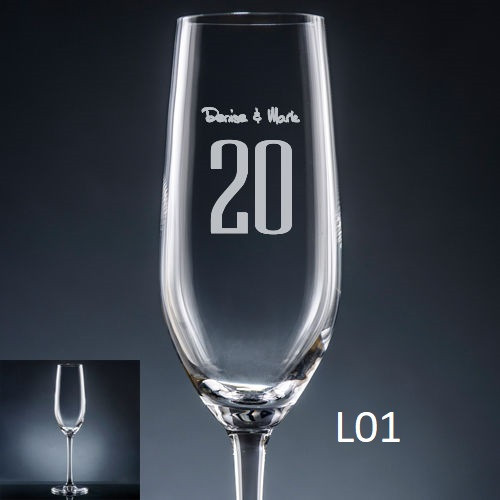 Numero Champagne Flute - 10 fonts