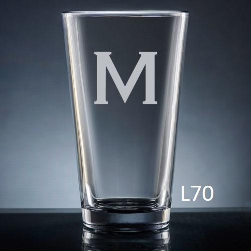 Sencillo Pint  Glass - 10 fonts
