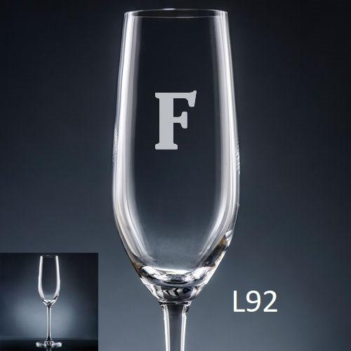 Sencillo Champagne Flute - 10 fonts
